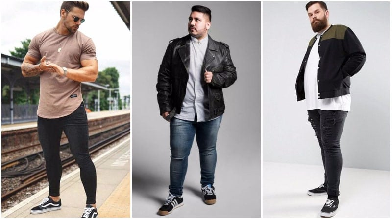 Spray-On Skinny Jeans for Big Guys