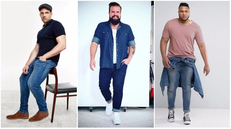 Standard Skinny Jeans for Big Men