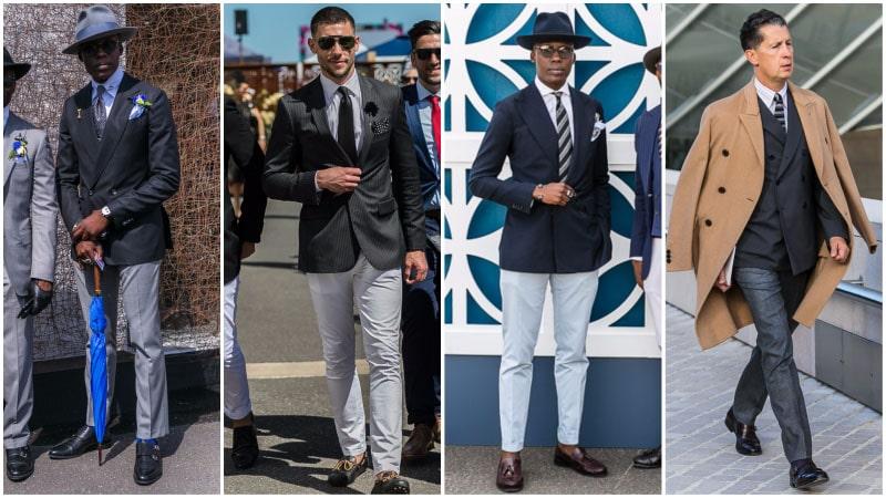 Black Blazer with Grey Pants
