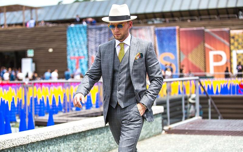 Grey Suit White Shirt