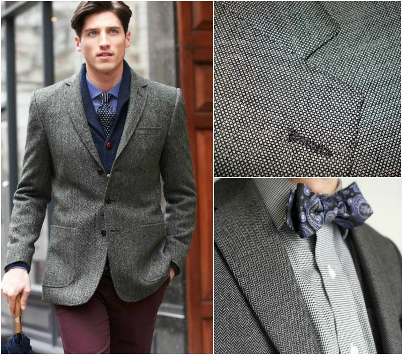 Herringbone and Birdseye Suit