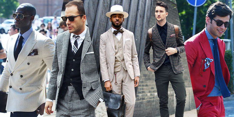 street style suits pocket squares trends menswear