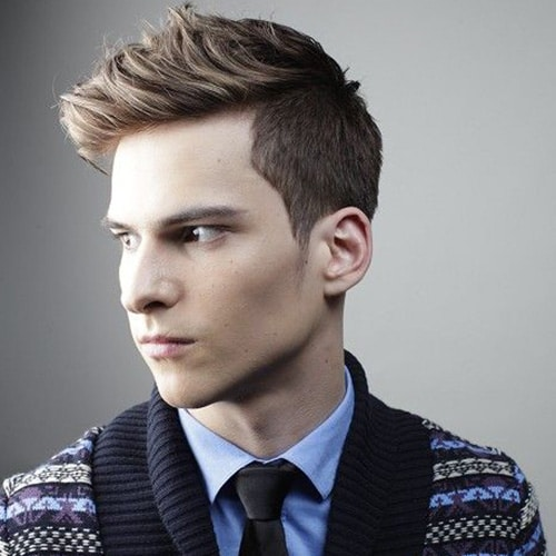 Spiky Hair With Blonde Highlights