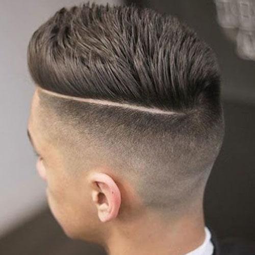 Spiky Hair With A Hard Part
