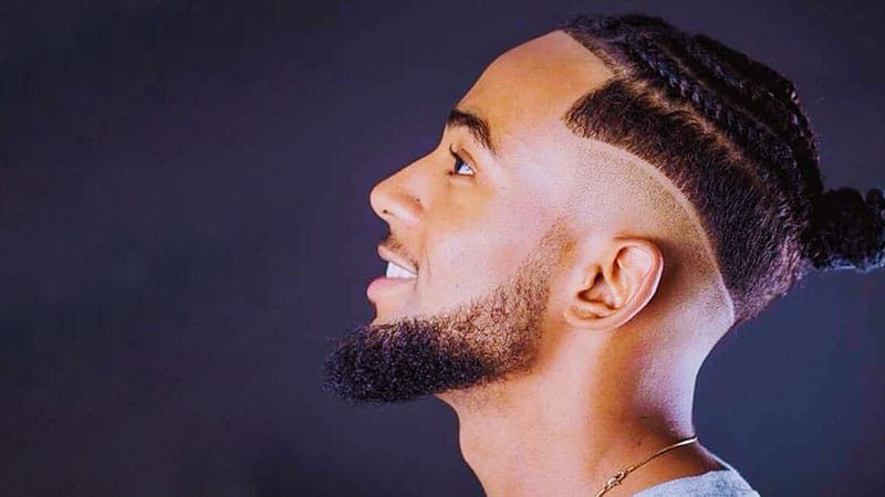 Man Bun Braid Hairstyle with Undercut