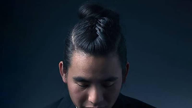 Man Bun with Simple Braid