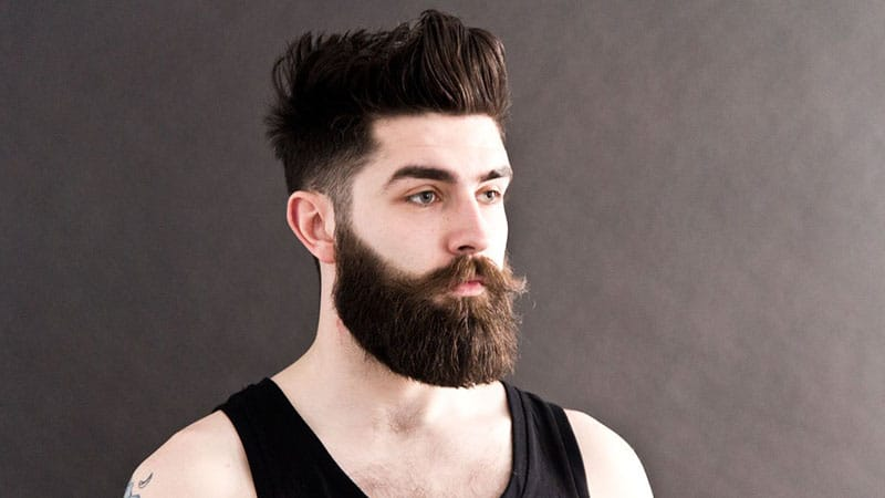 Messy Pompadour with Low Fade