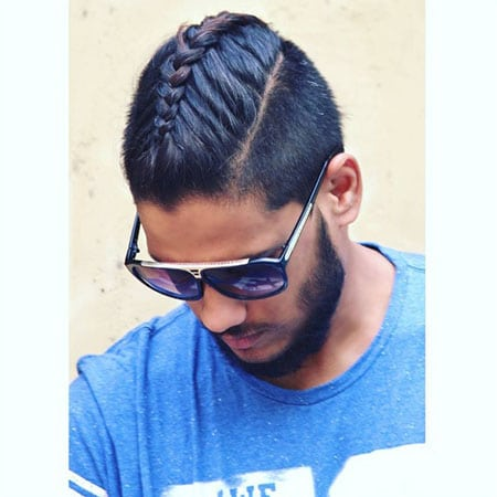 Short Hair with Man Braid
