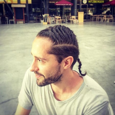 Wide Man Braid with Shaved Sides