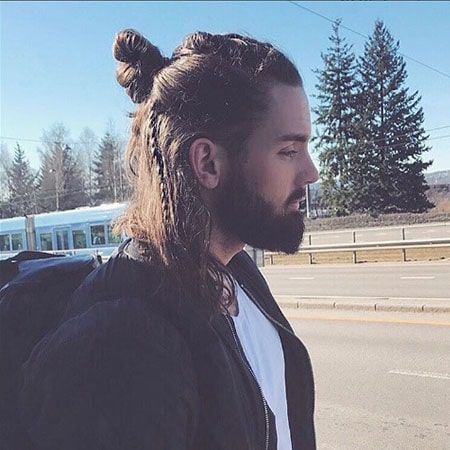 Man Braid and Bun