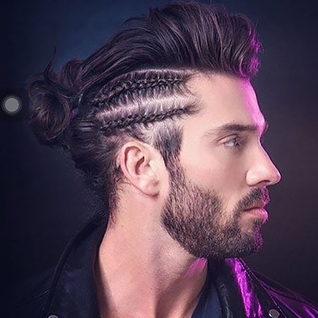 Pompadour with Braided Sides