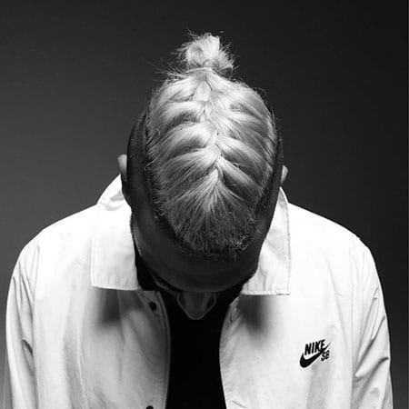 Man Braid with Mini Bun