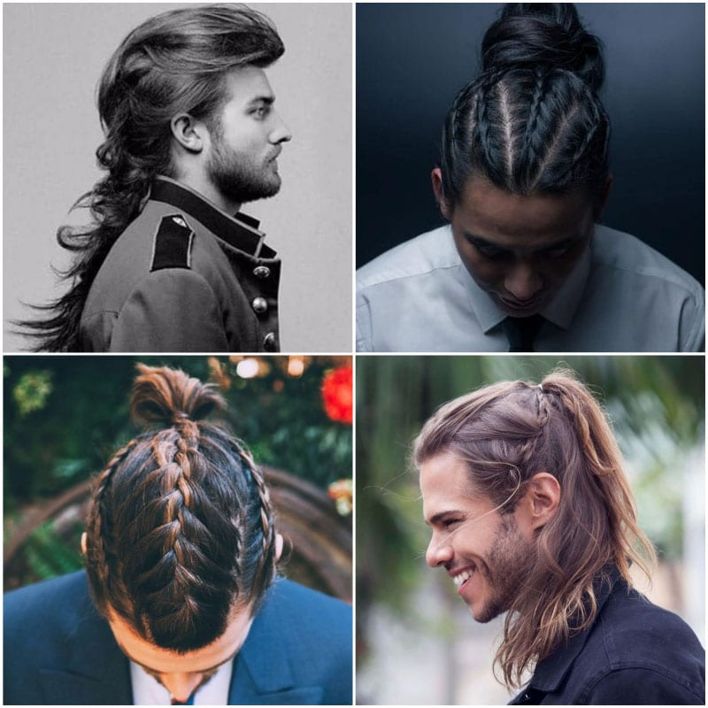 Braids For gents with long hair who like a bold look, braids can make an excellent option. Not only are they uniquely stylish, but they're also versatile and can be adapted to suit a range of styles. For a subtle braided look, try wearing your hair in one long and loose plait at the back of your head. Alternatively, for an eye-catching style, create many tight braids, starting at your scalp and working through your long mane. You can even partner your braided look with a man-bun or ponytail for a double dose of style. Curly If you have lusciously long curls, why not show them off in all their glory? Thanks to their natural texture and volume, long curls can be a great look for those who have a relaxed style. Of course, to pull off this look, you'll need to keep your curls in excellent condition and tame excess frizz. As such, you should remember to condition your hair regularly but not over-wash it. Also, be sure to invest in moisture-rich hair products and let your hair dry naturally whenever possible as blow-drying can cause frizz and damage. Then, all you need to decide is whether you wear your curls swept-back or with a part. Straight While short and straight hair can often appear a little plain, long and straight locks look daring and eye-catching. With little texture or shape, this style shows off all your length without any distraction. As such, it's essential to maintain your cut and keep your ends neatly trimmed as they'll be on display. For a smart and stylish appearance, it's also important to ensure that your hair is healthy. Doing so will help to reduce frizz and enhance shine for a sleek appearance. Of course, if your hair isn't naturally smooth or completely straight, you can always fake it. Just blow-dry your mane using a heat-protectant spray and round brush before applying a serum to tame any frizz or flyaways. Dreadlocks Having long hair affords you the possibility to rock a range of impressive hairstyles, including dreadlocks. Although the style 