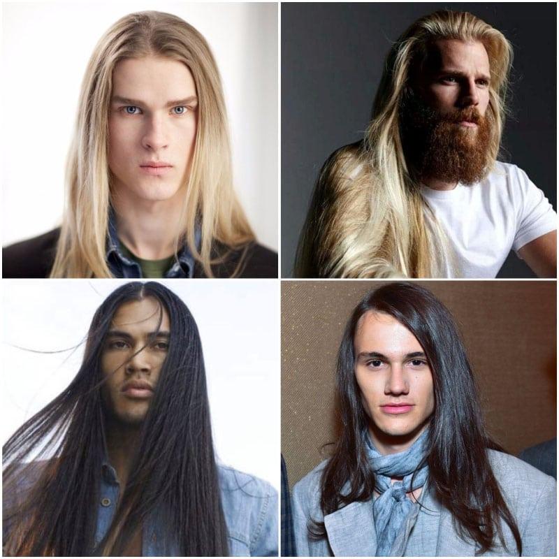Long Straight Hair for Men
