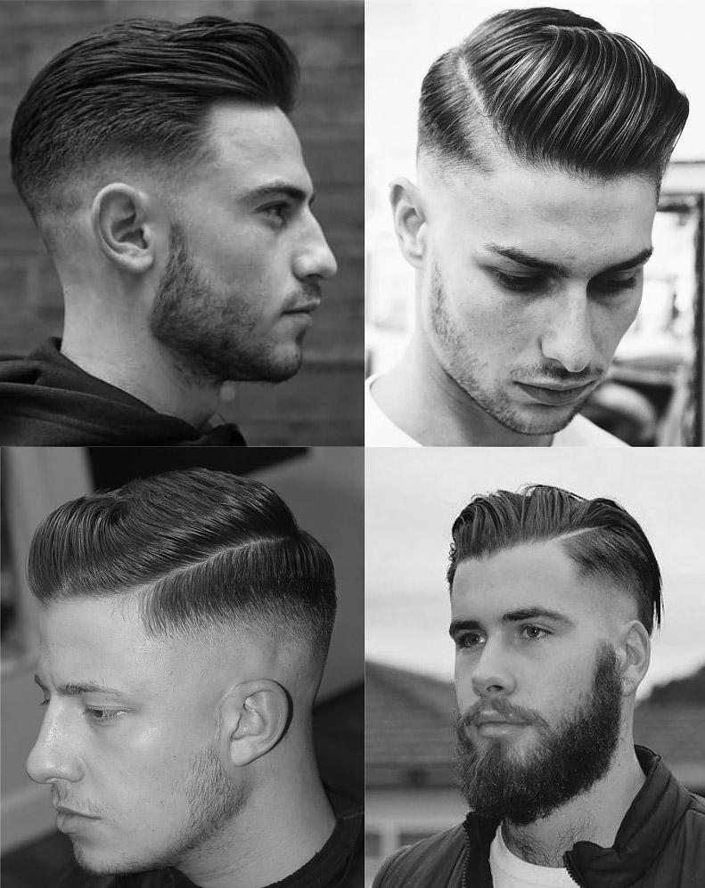 Mid Fade Comb Over