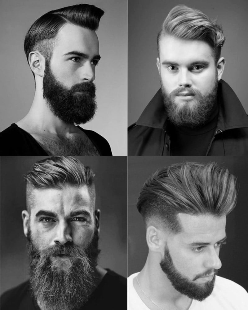 Beard and comb over