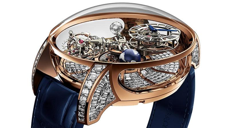 Jacob & Co Crystal Tourbillon Diamond Men's Watch