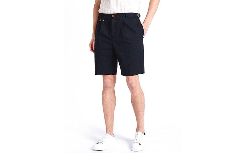 Textured Cotton Chino Shorts