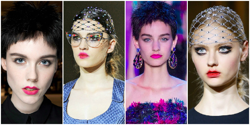 pink lips couture 2015 trend