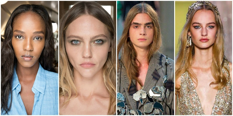 loose middle parted curls hair trend 2015 couture