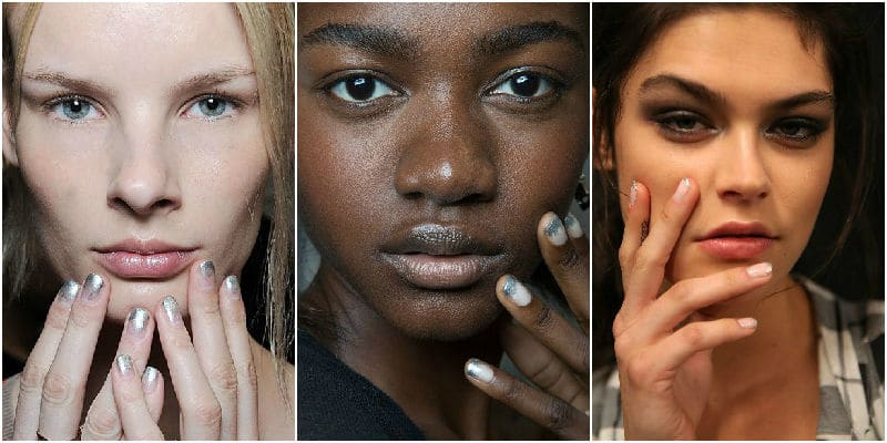 silver point nails beauty trends 2015