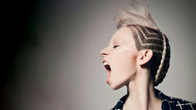 Undercut with Shaved Design