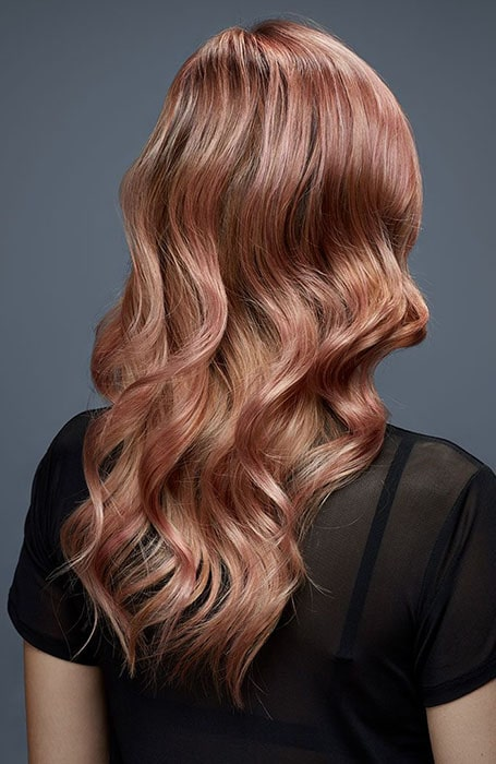 Rose Gold Waves