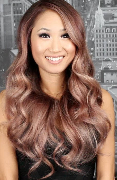 Rose Gold Hair for Brunettes