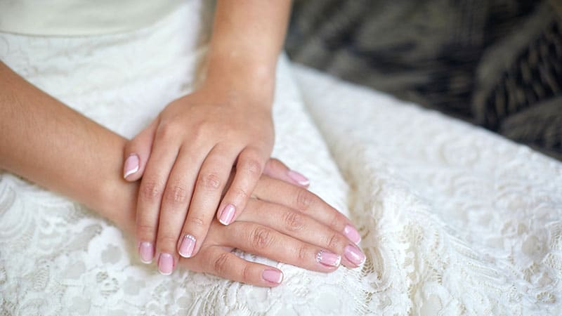 Classic Wedding Nails