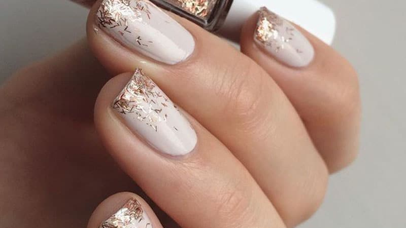 ivory wedding nails