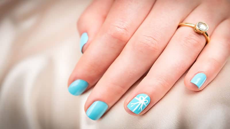 Blue Wedding Nails