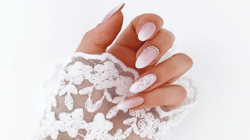 ombre wedding nails