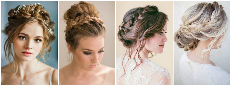 Medium Length Hair Braided Up-Do